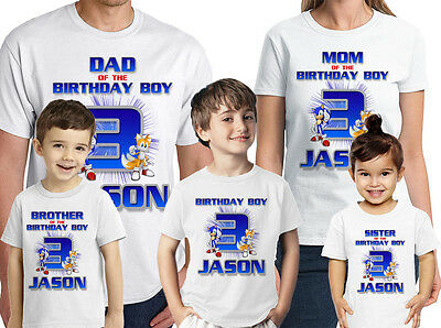 Sonic The Hedgehog Custom T Shirt Personalized Birthday Shirt Tops T Shirts Wvpd Org