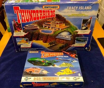 Thunderbirds Boxed *MATCHBOX* Tracy Island with TB 1 2 3 4 & Fab 1 Rescue Pack