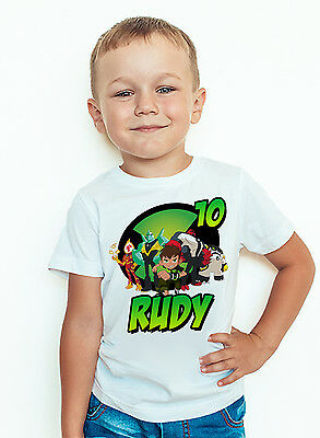 Ben 10 Birthday Shirt Personalized Name and Age Custom Ben 10 Tee