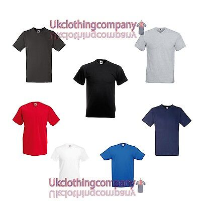 Hombre Fruit of the Loom Valueweight cuello en V Camiseta - Adulto Suéter