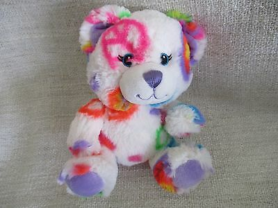 BUILD A BEAR - smallfry's buddies white bear with peace sign VGC