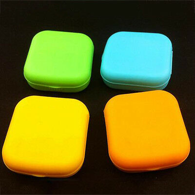 Contact Lens Case Mirror Set Mini Container Easy Carry Pocket Size Hot