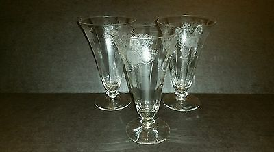 RARE Morgantown Adonis IceTea Glasses Water Goblets Set of 3 Elegant Depression