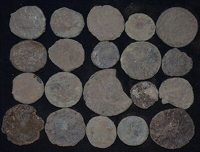 Group of 20 Ancient Roman Bronze coins. Roman Imperial, c 235-476 AD. Detector