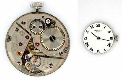 UNIVERSAL GENEVE 42 original mechanical watch movement for parts / repair (4174)