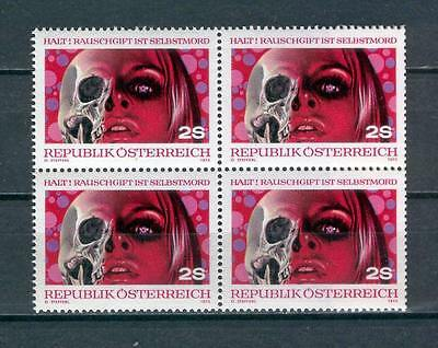 Austria Y10 MNH 1973 Blocks set 4v Drug abuse