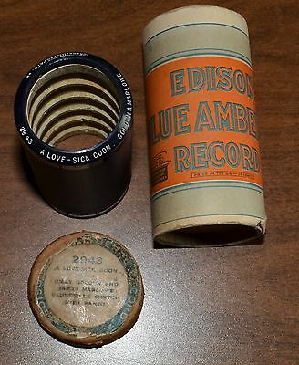 Edison Blue Amberol Cylinder Record #2943 - A Love Sick Coon - Golden & Marlowe
