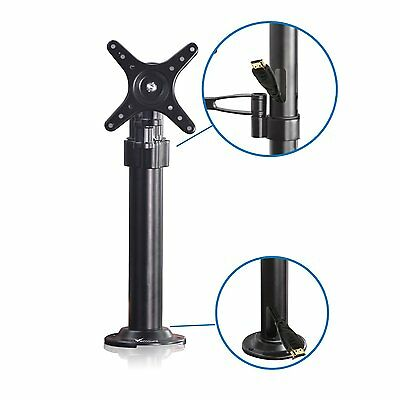 Single LCD LED Monitor TV Bracket Mount Desk Stand Clamp For 10-27'' Screens