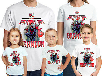 PERSONALIZED SPIDERMAN VS VENOM BIRTHDAY SHIRT ADD NAME /& AGE FOR FAMILY