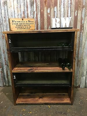 UPCYCLED Metal Reclaimed Wooden Industrial Shelving Unit bookcase Rack shelves