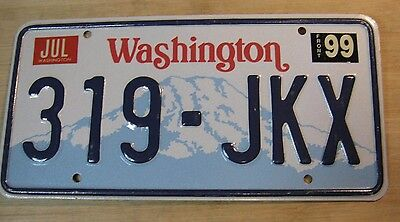 1999 Washington License Plate Expired 319 Jkx