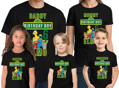 Sesame Street Birthday Shirt Add Name-Age Personalized Family Sesame Street Tee