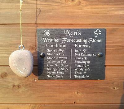 Funny  Weather Forecasting Stone Natural Slate Plaque Ideal Gift Sign 20cm x15cm