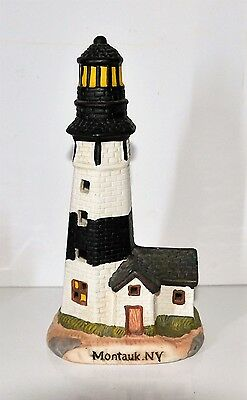 "Lighthouse Figurine Ceramic- Montauk,ny- Approx. 7.5"" Tall"