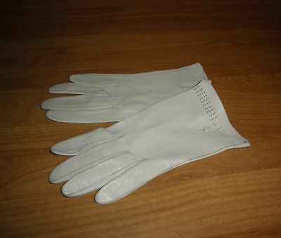 Damenhandschuhe WEICH Leder gloves gants vintage roleplay 50er rockabilly Gr. 7