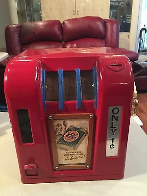 LUCKY STRIKE 1CENT Trade SLOT NICE WORKING CONDITION FINELY FINISHED PAINT WORK