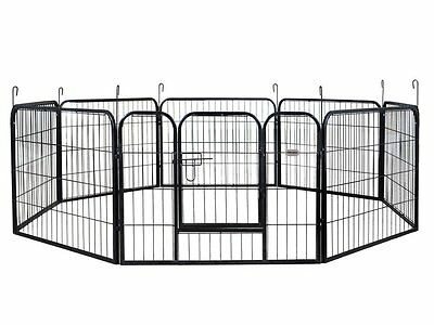 PetPremium Dog Pen Metal Fence Gate Portable Outdoor RV Play Yard | Heavy Duty |