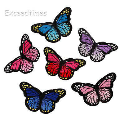 Embroidery Butterfly Sew Iron On Patches Sticker Dress Fabric Sewing Applique
