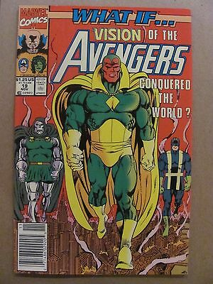 What if #19 Marvel 1989 Series Vision Conquered The World Newsstand 9.2 NM-