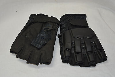 Gloves impact half finger glove paintball, airsoft size large (#bte50)