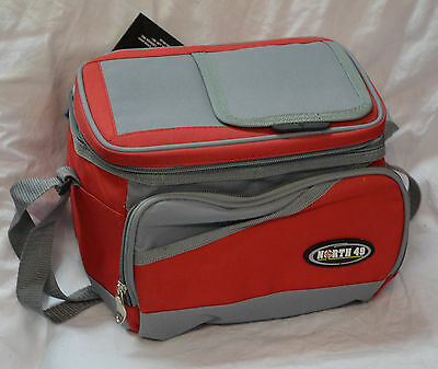 North 49 soft sided coolers 9x6x7 inches capacity 9 cans red / gray (refbte#21)