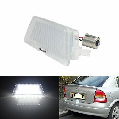 1x LED Vauxhall Opel Licence Number Plate Light White 1998-04 Astra G MK4 Saloon