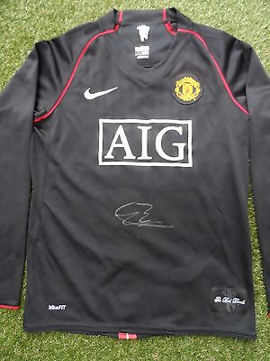 Patrice Evra Hand Signed Manchester United Away Football Shirt - COA - Autograph