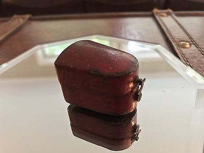 Vintage Leather Thimble Holder And Thimble