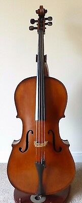 "OFFER -  SUPERB ANTIQUE c19th  FULL SIZE CELLO  -  LOB 29 3/8""  OLD CASE + BOW"