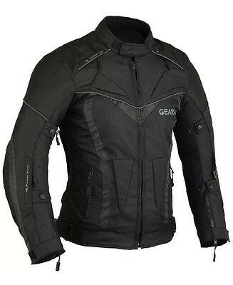 Gearx Aircon Motorbike Jacket - Waterproof With Armours - Small