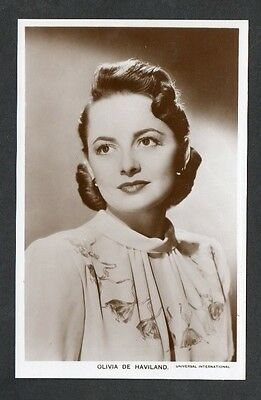 Olivia de Havilland Picturegoer W Series Film Star Actress Postcard No. W 238