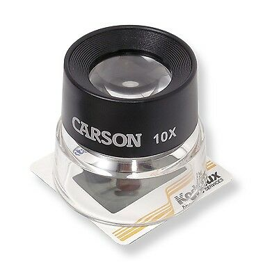 Carson 10X Power Stand Magnifier Eye Loupe Magnifying Glass LL-10 FREE SHIPPING