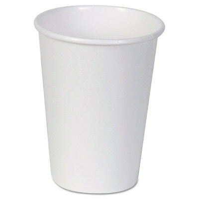 Paper Cups, Hot, 12 oz., White, 50/Bag