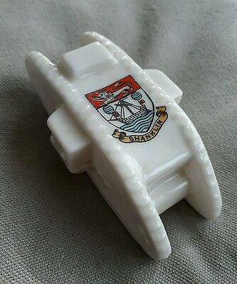 Goss Crested China Tank Crest Shanklin