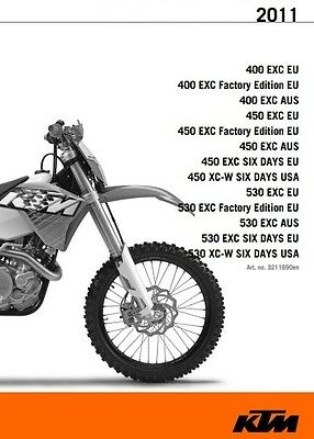 KTM 400 450 530 EXC XC-W  Six Days Service Repair Manual 2008-2011