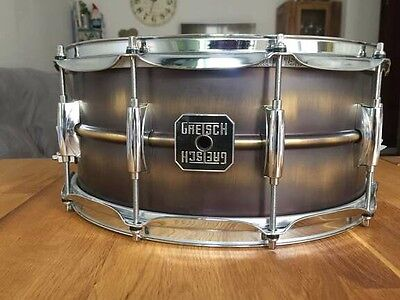 Caja Gretsch Range Brushed Brass Snare Drum 14x5.5