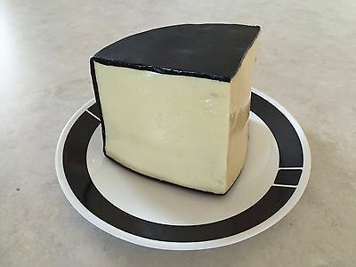 Realistic Black Wax Cheese Wedge Display Prop Artificial Faux Fake Food Prop