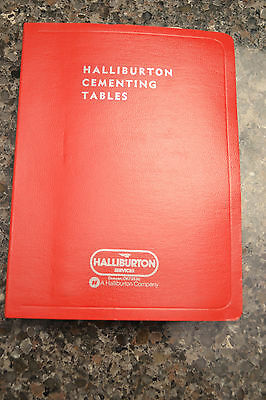 Halliburton Cementing Tables--1972 Edition--Very Nice