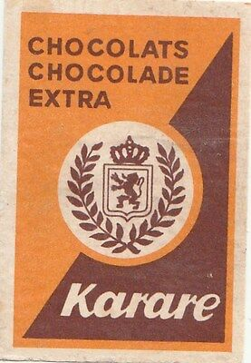 ancienne étiquette allumettes chocolat chocolade extra KARARE /1346