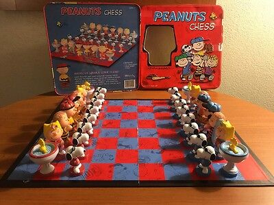 Peanuts Chess Set - Charlie Brown, Lucy, Linus, Sally, Woodstock & Snoopy In Box