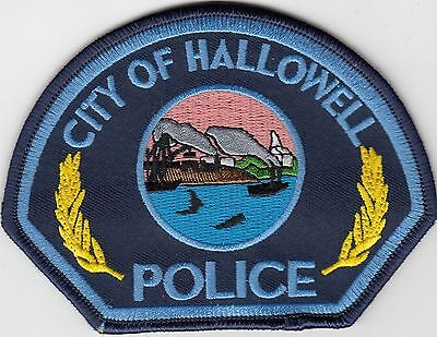 Hallowell Police Shoulder Patch Maine Me