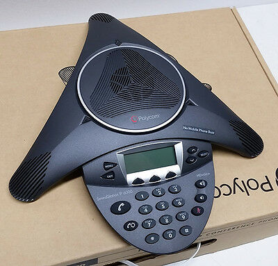 NEW Polycom SoundStation IP 6000 PoE SIP VoIP Conference Phone (2200-15600-001)