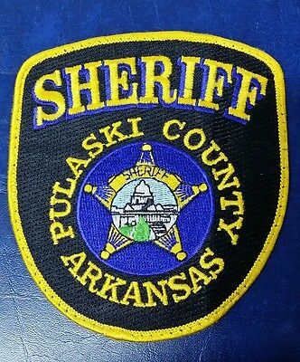 Pulaski County, Arkansas Sheriff Police Shoulder Patch Ar