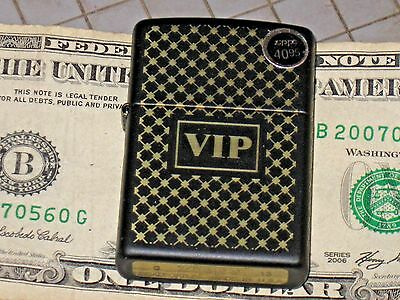 28531 VIP New Windproof Flame USA Pa Zippo Lighter Gold Diamond Trim Both sides