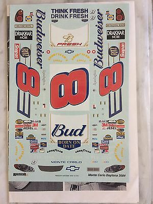 1/24 Dale Earnhardt Jr 2004 Daytona Winner Decals Nascar By Racescale Very Rare