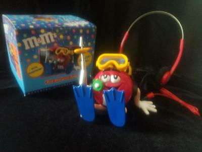 M&Ms Red Scuba Diver Character Radio with Headphones (NEW IN BOX)