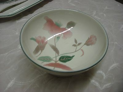 """1 av. vintage porcelain MIKASA SILK FLOWERS 5""""x 2.5"""" FOOTED Relish or Candy Dish"""
