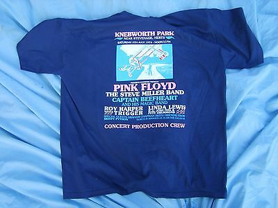 Pink Floyd Knebworth Production Crew T Shirt
