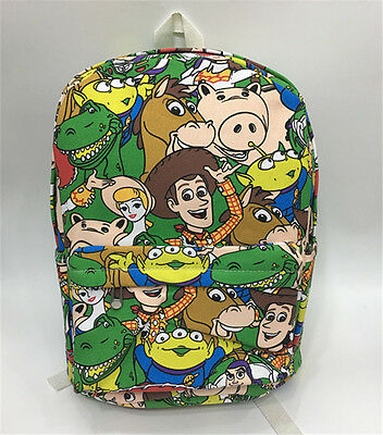 """Toy story woody 15"""" canvas backpack shoulder bag school bags new"""