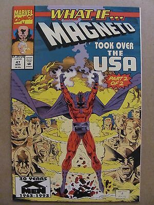 What if #46 Marvel 1989 Series Magneto Took Over The USA 9.2 Near Mint-